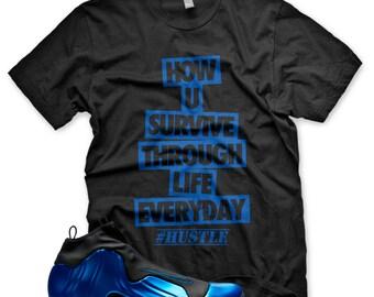 super popular 2c26c 5bc96 Neue Hektik-T-Shirt für Nike Air Flightposite dunkel Neon königlichen Penny