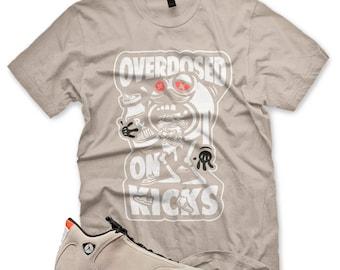 8854f100ef0 New Overdosed on Kicks T Shirt for Jordan Retro 14 XIV Desert Sand Infrared