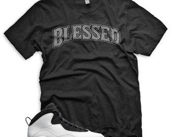5dd801357ee New BW BLESSED T Shirt for Jordan Retro 10 Im Back Summit White Respect