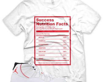 ce027fcd2048cb New White SUCCESS FACTS T Shirt for Jordan XI Retro 11 Platinum Tint