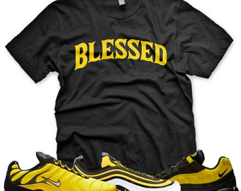 b30b6be7e8 New BW BLESSED T Shirt for Nike Air Max Plus 97 95 Frequency Pack Black  Yellow