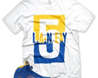 3a064bfd678de9 New  LANEY 5  T Shirt for Jordan 5 Laney V Jsp Royal