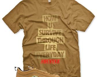 6737220d36 New HUSTLE T Shirt for Nike Air Max 97 Metallic Gold