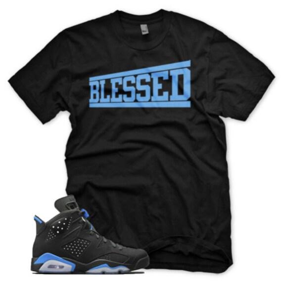 best loved 536f8 cc190 New BLESSED T Shirt for Jordan Retro 6 VI University Blue UNC
