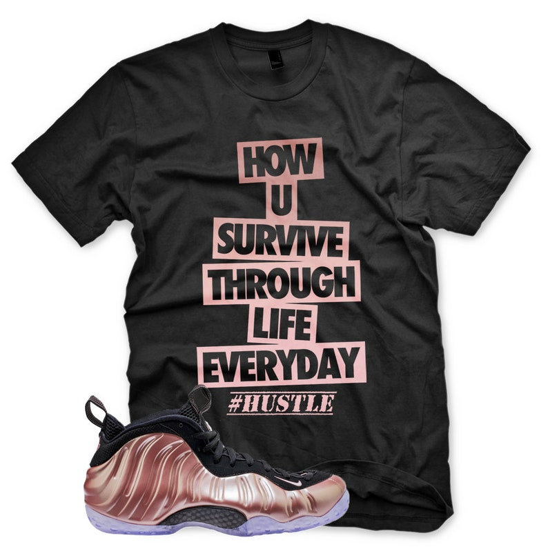 5ea94f9300d NEW HUSTLE T Shirt for Nike Elemental Rose Pink Foamposite One