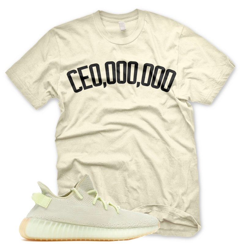 sneakers for cheap f68db 3cb32 New CE0,000,000 T Shirt for Adidas Yeezy 350 v2 Butter Gum CEO