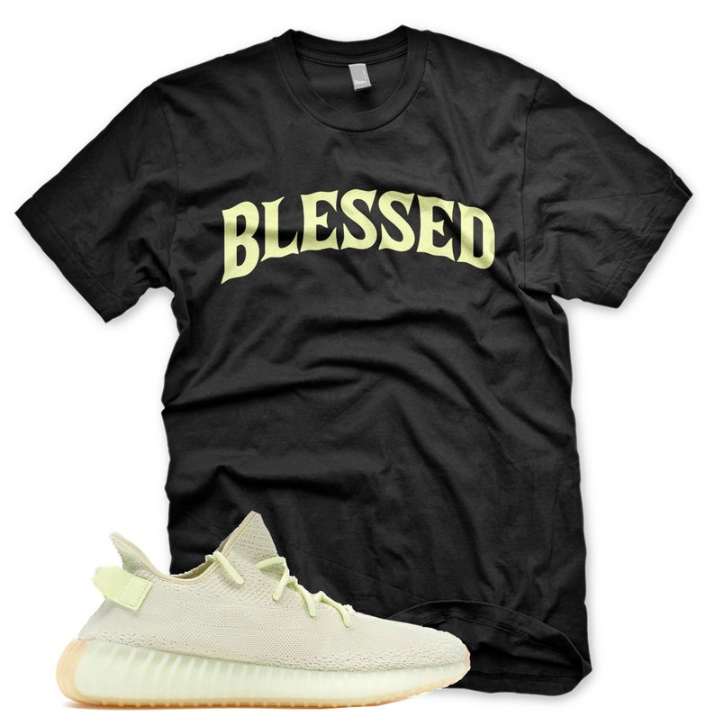 39a53212328c New Black BW BLESSED T Shirt for Adidas Yeezy 350 v2 Butter
