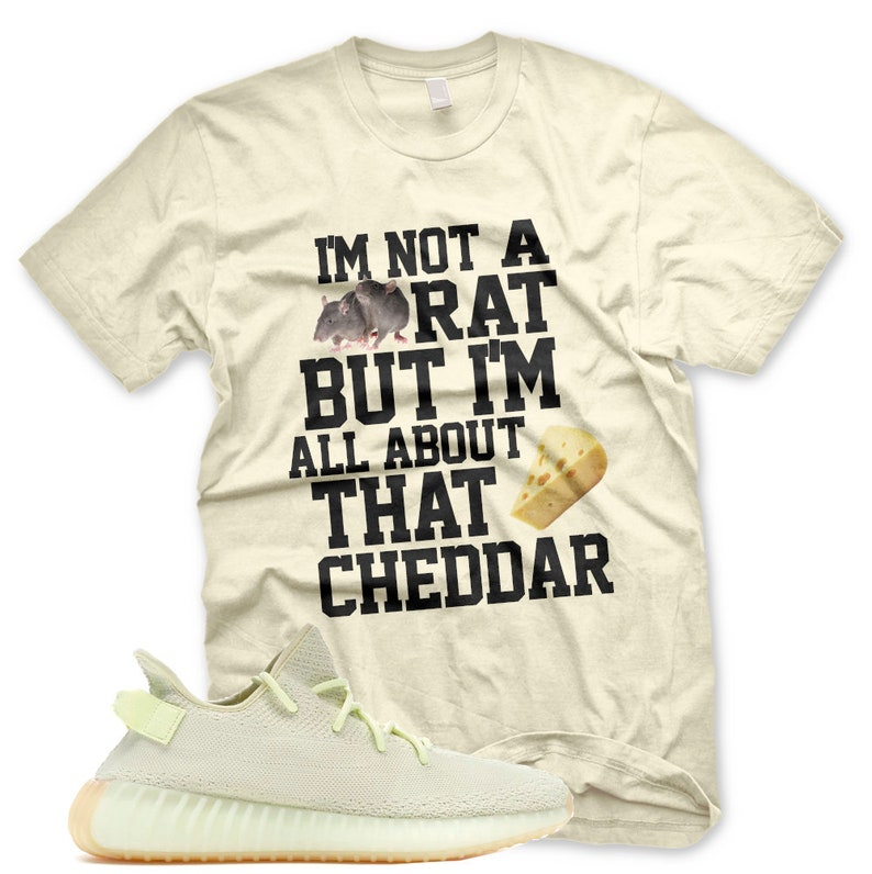official photos df37a 63ef4 New Bout that Cheddar T Shirt for Adidas Yeezy 350 v2 Butter Gum