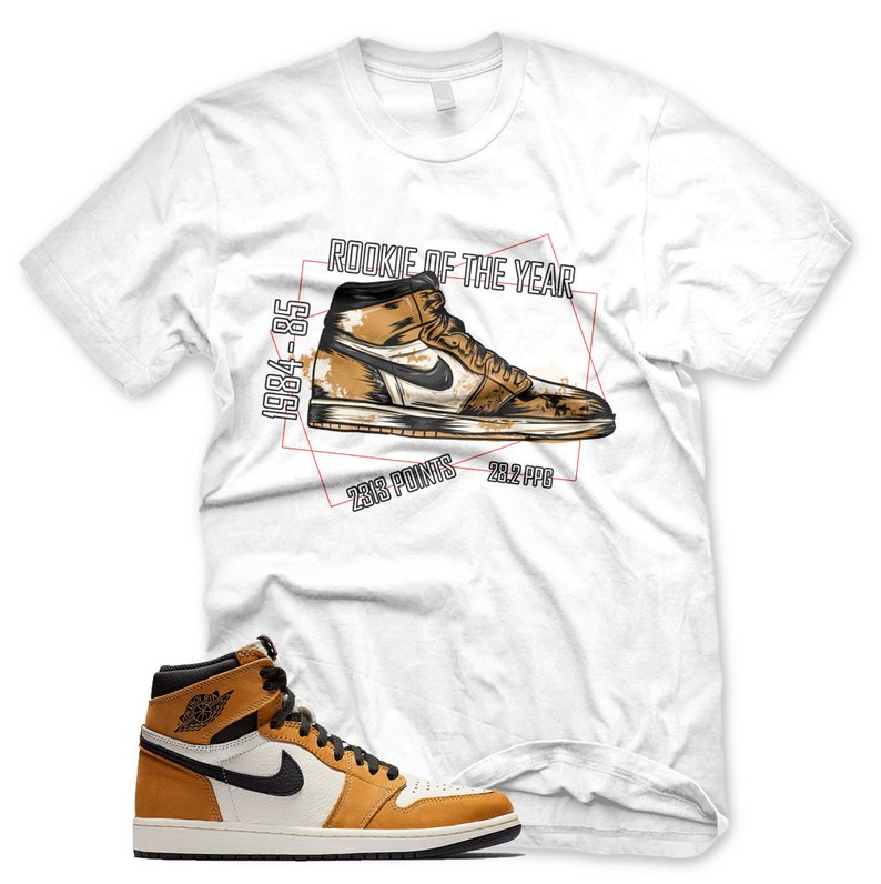 339929467cb White ROTY T Shirt Jordan 1 Rookie of the Year ROTY | Etsy