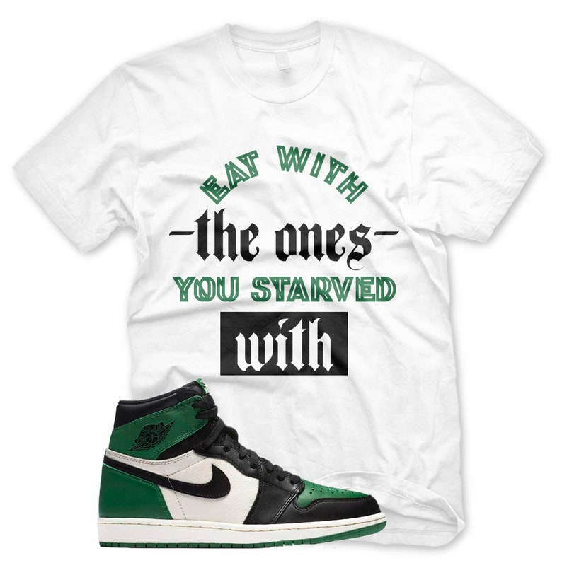 131bd74e7e88d5 New White STARVED WITH T Shirt Jordan Retro 1 High