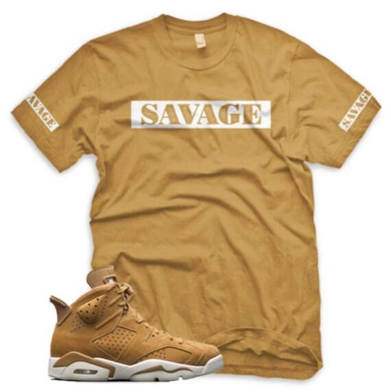 quality design cdf20 e0da2 ... WHEAT SAVAGE T Shirt for Jordan Golden Harvest 6 OG Wheat ...