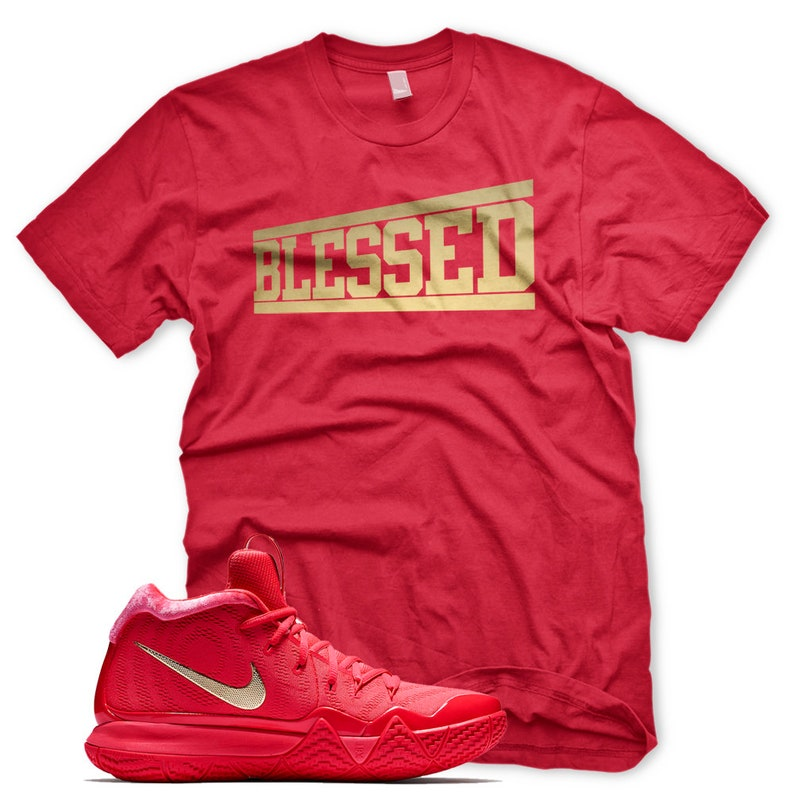 9d40eebd28a4 New OG BLESSED T Shirt for Nike Kyrie 4 IV Red Carpet Orbit