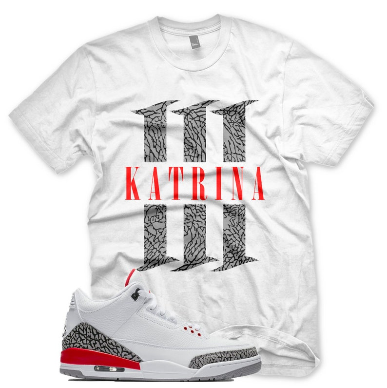 Fame Katrina White Iii For New Cement Hall Shirt Jordan T 3 Red Of Elephant WH29DIEY