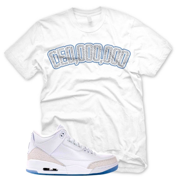 c2f9977496d7f6 White CEOOOOOOO T Shirt for Jordan 3 Pure Money Triple White