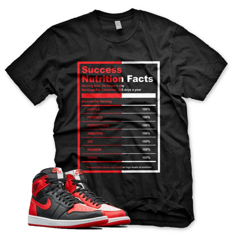 5e8caa1073f New SUCCESS FACTS T Shirt for Jordan 1 Homage to Home NRG Bred | Etsy