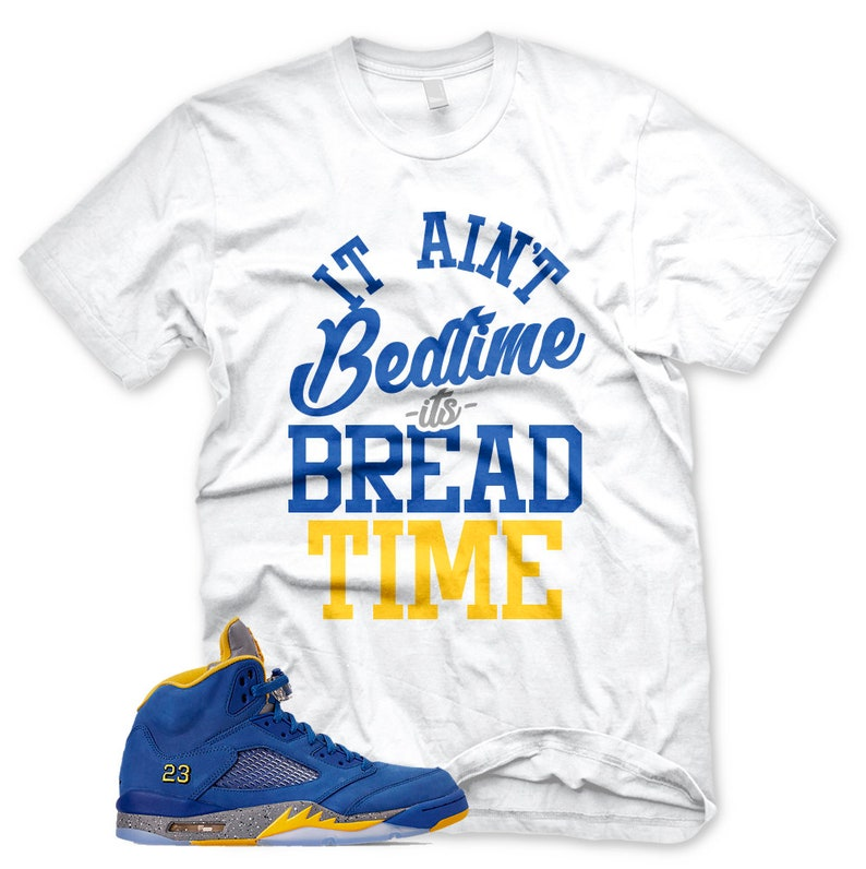 987ed383e955 New BREAD TIME T Shirt for Jordan 5 Laney V Jsp Royal
