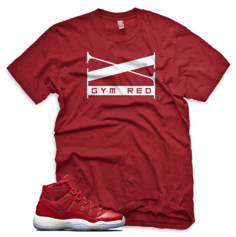 a50328eb2fa7 New XI T Shirt for Jordan XI Retro 11 Gym Red Win Like 96