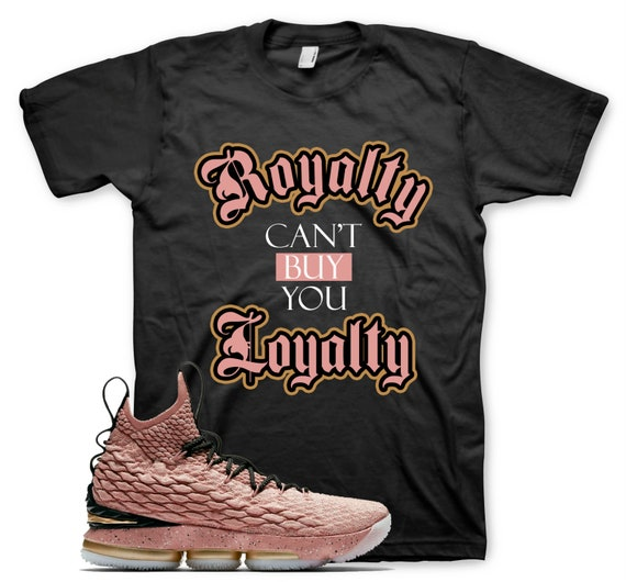 quality design 8433d 34c0f Black ROYALTY T Shirt for Nike Lebron 15 Hollywood All Star Rust Pink Gold
