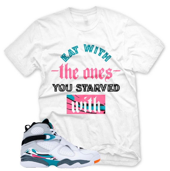 4d429f8933f84 New STARVED T Shirt for Jordan 8 Turbo Green South Beach Miami Vice