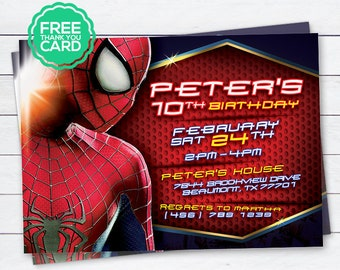 Spiderman invitation etsy spiderman invitation spiderman invite spiderman party spiderman birthday spiderman card spiderman super heroes peter digital invite stopboris Choice Image