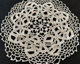 Off-White Hand Crocheted Doily