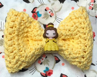 Yellow Belle Crochet Bow