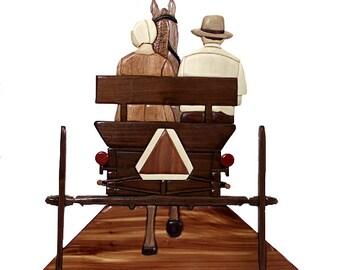 Handmade Amish Buggy Wall Art