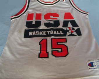 56d60cac118 Vintage NBA Dream Team Jersey---Magic Johnson #15---Size 40---From The  Early 1990's