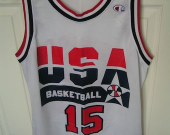 1a04ce49d3765 Vintage NBA Dream Team Jersey---Magic Johnson #15---Size 40---From The  Early 1990's