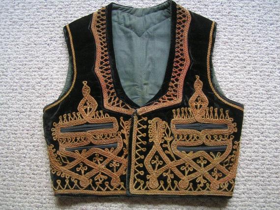 Authenic Middle Eastern Vest---Vintage Ethnic Embr