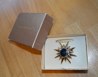 Vintage Liz Claiborne Stars & Moon Brooch/Pin---New in Original Box---From the 1960-70's