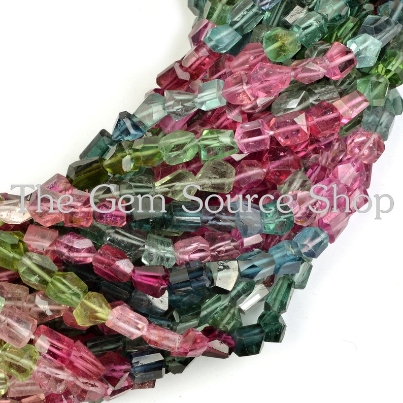 Tourmaline Faceted Fancy Nuggets AAA Tourmaline Faceted Nuggets Quality