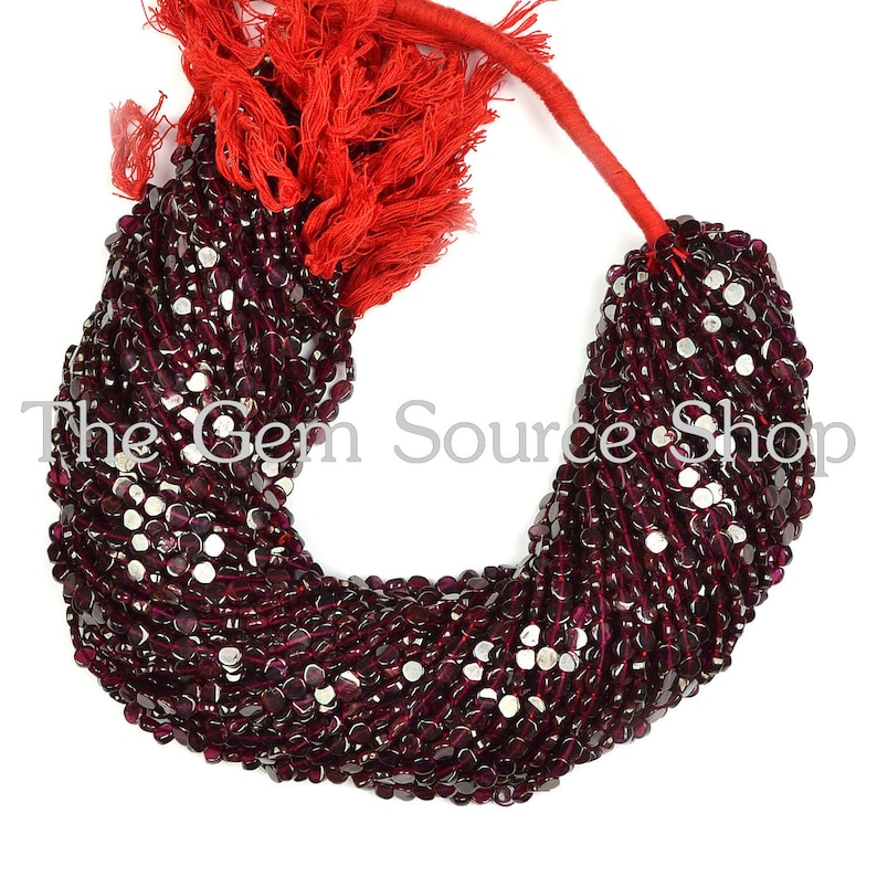Granet Smooth Coin Shape Beads AA Quality Coin Shape beads 50 Strands,Garnet Plain Coin Shape Beads