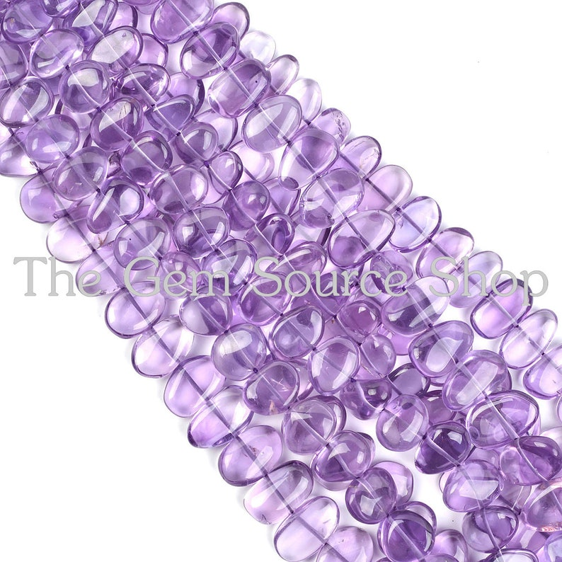 AAA Quality Amethyst Plain Smooth Nuggets Shape Beads Amethyst Central Drill Smooth Beads