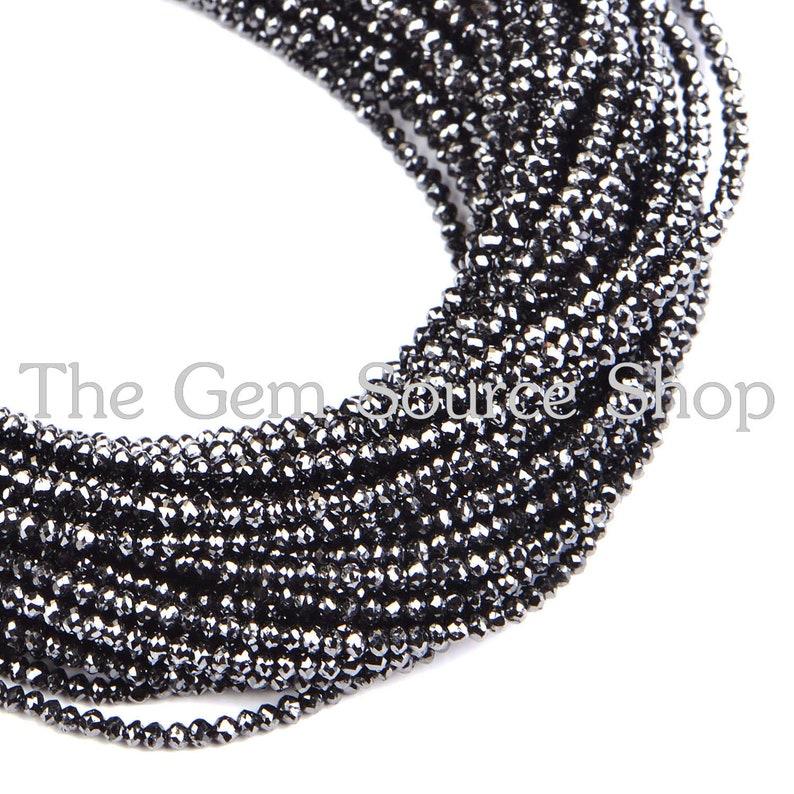 """Neckalce Zircon Rondelle Faceted Tanzanite Gemstone 3-4mm Beads 12 To 42/"""" Strand"""