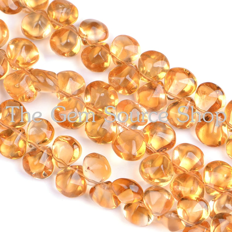 Citrine Loose Beads Quality Natural Citrine Heart Shape Faceted Beads,Beautiful Yellow Citrine Faceted Briolette Gemstone Beads Craft AAA