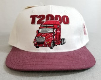 4201f3c07d2 Vintage T2000 KENWORTH Snap Back Trucker Hat New Old Stock