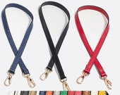 1pcs 55cmx1.2cm Replacement Handle Short Purse handle purse strap bag leather handle purse leather strap bag handle with Gold clasp