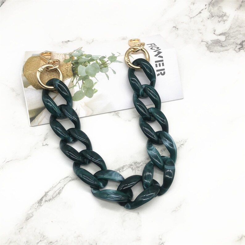 Metal Shoulder Handbag Strap A piece of Acrylic High Quality Purse Chain Metal Crossbody Bag Chain Strap TT03 Replacement Handle Chain