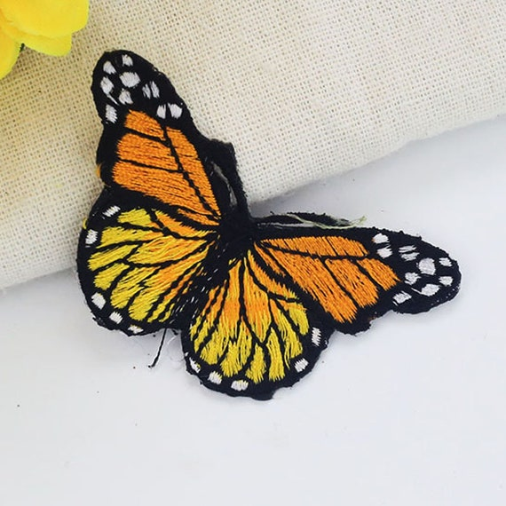 Little yellow butterfly Embroidered PATCH//BADGE