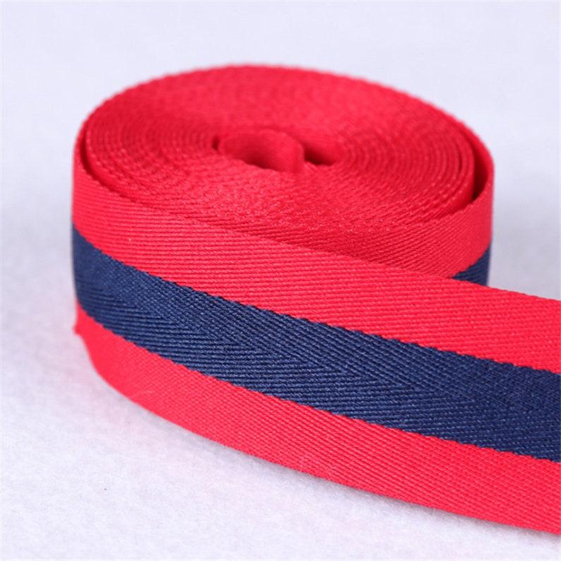 357-7 5 Yards 1.0cm1.5cm2.0cm2.5cm Width Webbing Cotton Polyester Webbing Belts Purse Bag Straps Handles Leash key fob webbing