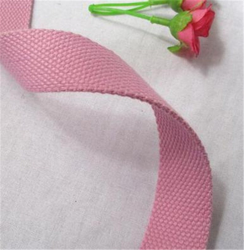 5 Meter 2.5cm Width Polyester Cotton Webbing,Strap key Fob Strap Bag Strap Tote Bag Purse Srap Canvas Cotton Belt Handle Backpack Strap,352
