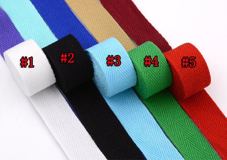 bag strap for tote bag Upholstery Webbing Thick Strong Bag Purse Cotton Webbing 10 Yards Cotton Webbing 2.0cm Wide For Bag handles 380