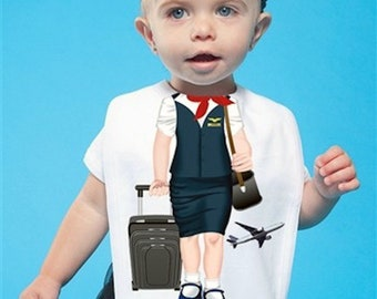 Flight Attendant Toddler Bib