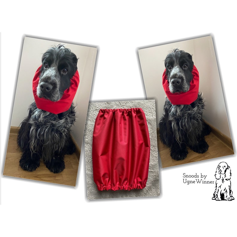11 colors available- Ear protector Waterproof dog snood Black waterproof thick snood Dog snood Dog ear cover
