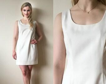 1990s Cream Mini Dress