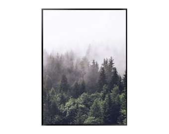 Forest 1 Poster - Nature - Green - Mountain - Road - Print