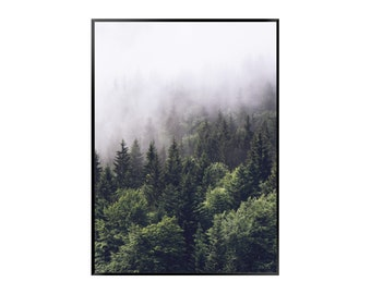 Forest 2 Poster - Nature - Green - Mountain - Road - Print