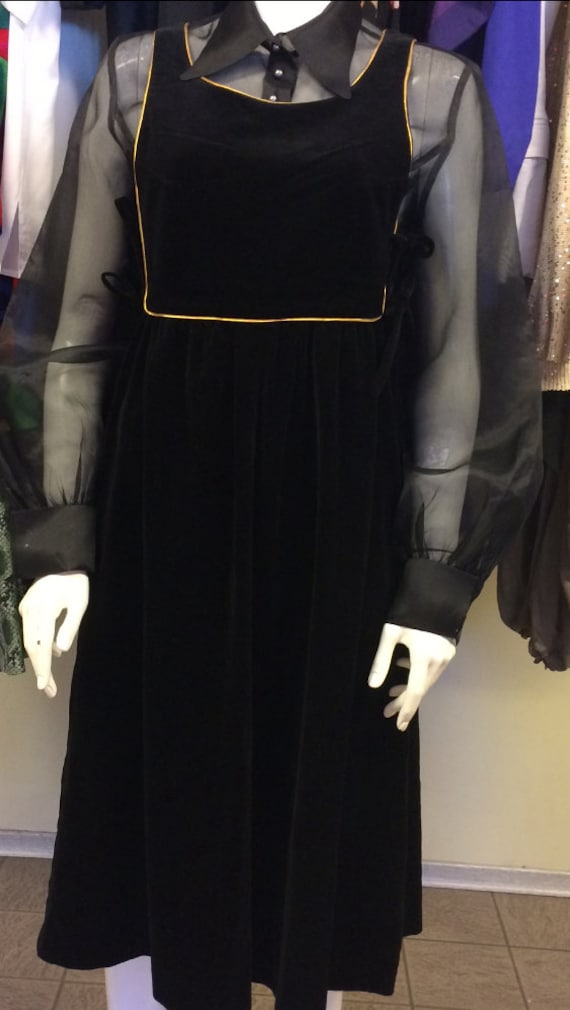 Alistair Cowin velvet vintage apron dress