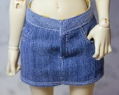 Denim skirt for minifee and slim msd bjd, BJD 1 4